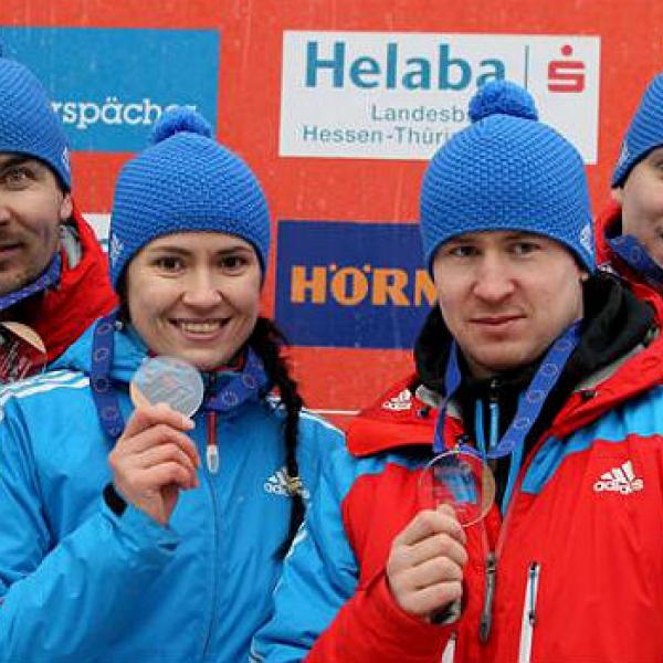 Саночники из Чусового стали бронзовыми призерами Европы